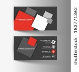 modern simple light business... | Shutterstock .eps vector #183771362