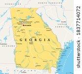 georgia  ga  political map ... | Shutterstock .eps vector #1837714072