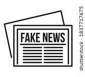 City Fake News Newspaper Icon....