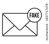 Fake Mail News Icon. Outline...