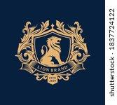 heraldry lion brand logo design | Shutterstock .eps vector #1837724122