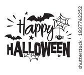 happy halloween vector...   Shutterstock .eps vector #1837762252