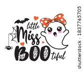 little miss bootiful. beautiful ... | Shutterstock .eps vector #1837765705
