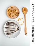Omega 3 Pills On Spoon  Fish...