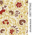 jacobean print pattern seamless ...   Shutterstock .eps vector #1837787062