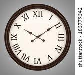 vintage round wall clock... | Shutterstock . vector #183779342