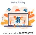 dance teacher or choreographer... | Shutterstock .eps vector #1837793572
