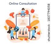 epilation online service or... | Shutterstock .eps vector #1837794058