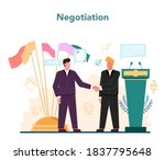 diplomat profession. idea of... | Shutterstock .eps vector #1837795648