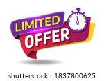 limited offer modern banner... | Shutterstock .eps vector #1837800625