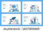 surgeon web banner or landing...   Shutterstock .eps vector #1837800685
