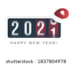 20201 new year. analog counter... | Shutterstock .eps vector #1837804978