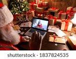 Over Shoulder View Of Santa...