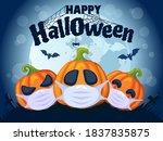 happy halloween 2020. halloween ...   Shutterstock .eps vector #1837835875