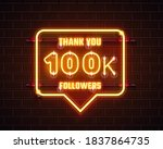 thank you followers peoples ... | Shutterstock .eps vector #1837864735