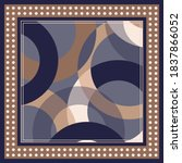 silk scarf pattern with circle... | Shutterstock .eps vector #1837866052