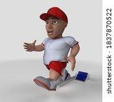 3d render of cartoon sports... | Shutterstock . vector #1837870522