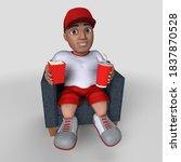 3d render of cartoon sports... | Shutterstock . vector #1837870528