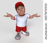 3d render of cartoon sports... | Shutterstock . vector #1837870555
