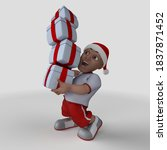 3d render of cartoon sports... | Shutterstock . vector #1837871452