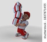 3d render of cartoon sports... | Shutterstock . vector #1837871455