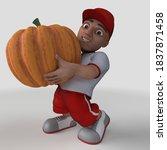 3d render of cartoon sports... | Shutterstock . vector #1837871458