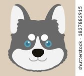 adorable flat colored grey... | Shutterstock .eps vector #1837882915