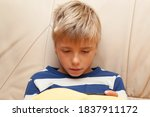 little kid playing game or... | Shutterstock . vector #1837911172