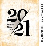 2021 happy new year greeting... | Shutterstock .eps vector #1837911565