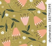 flowers  hand drawn backdrop....   Shutterstock .eps vector #1837911595