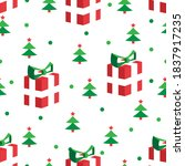 seamless christmas pattern with ... | Shutterstock .eps vector #1837917235