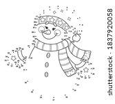 winter dot to dot christmas... | Shutterstock .eps vector #1837920058