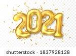 happy new year 2021. golden... | Shutterstock .eps vector #1837928128