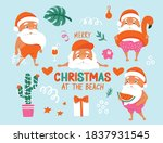 summer santa characters....   Shutterstock .eps vector #1837931545