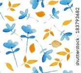 handpaint watercolor vector... | Shutterstock .eps vector #183793682