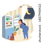 obesity and weight problems.... | Shutterstock .eps vector #1837940422