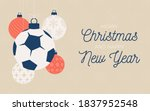 Football Holiday Banner. Merry...