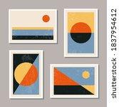 set of minimal 20s geometric... | Shutterstock .eps vector #1837954612