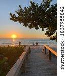 Naples, Florida Seagate beach sunset view