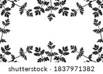 silhouette of wild plants ... | Shutterstock .eps vector #1837971382
