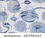 modern continuous one line art... | Shutterstock .eps vector #1837981015