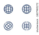 wire world logo template vector ... | Shutterstock .eps vector #1837985272