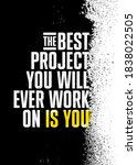the best project you will ever... | Shutterstock .eps vector #1838022505