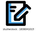 writing line icon. edit line...   Shutterstock .eps vector #1838041015