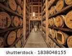 Barrel room, Woodford Reserve, Versailles, Kentucky.