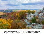 Small photo of Camel Rock in Garden of the Gods Recreation Area, Shawnee National Forest, Illinois.