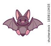 Isolated Bat Cartoon Kawaii....