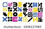 set of minimal style abstarct... | Shutterstock .eps vector #1838127085