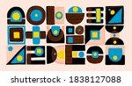 set of minimal style abstarct... | Shutterstock .eps vector #1838127088