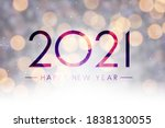 2021 happy new year sign on... | Shutterstock .eps vector #1838130055